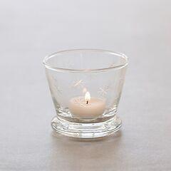 Windlicht aus mundgeblasenem Glas ohne Fuß (Höhe: 7,5 cm)
