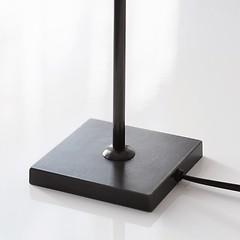 Fuß für Tischleuchte schwarz 43 cm