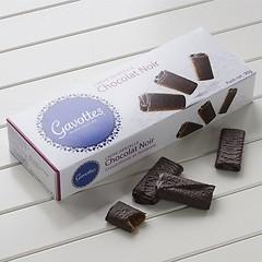 Crêpes Dentelles mit Schokoladenüberzug Zartbitterschkolade
