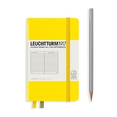 Leuchtturm1917 Notizbuch A6 liniert Zitrone