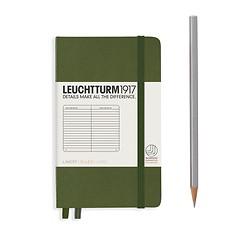 Leuchtturm1917 Notizbuch A6 liniert Army