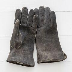 Herren Handschuh aus Ziegenleder Grau