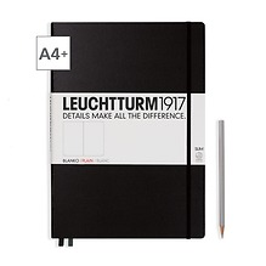 Leuchtturm1917 Notizbuch A4+ Master Slim Blanko Schwarz