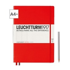 Notizbuch A4+ Master Slim Dotted Rot
