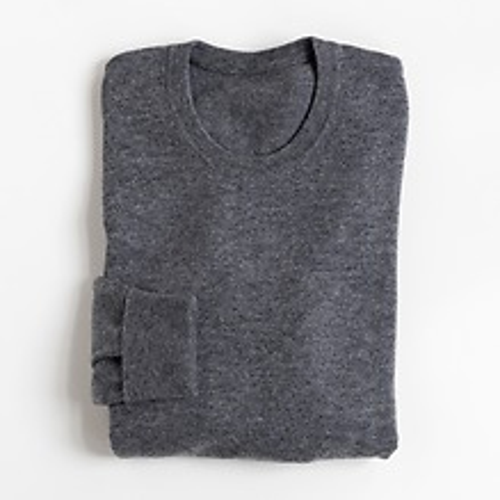 Torquato Lambswool Pullover Rundhals-Ausschnitt Mid Grey