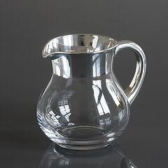 Krug mit Feinsilberrand 1,0 l Silber poliert