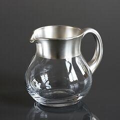 Krug mit Feinsilberrand 1,0 l Silber matt