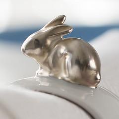 Hasen Serviettenringe Silber