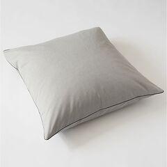 Torquato Kissenbezug Herringbone 80 x 80 cm Grau mit Paspel