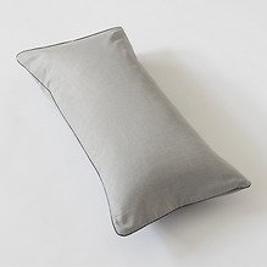 Torquato Kissenbezug Herringbone 40 x 80 cm Grau mit Paspel
