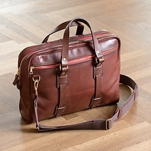 Croots Vintage Leather Laptop Bag Braun