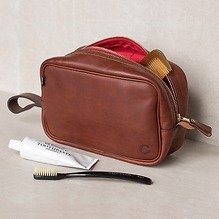Croots Vintage Leather WashbagPort