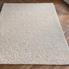 Handgewebt: Teppich Aquinnah Elfenbein