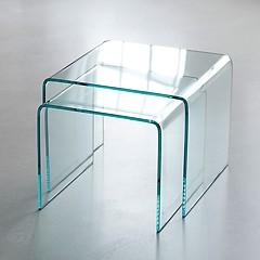 Bow Wohnzimmertische aus Glas Beistelltische