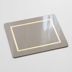 4 Tischsets Stone Grey/Gold