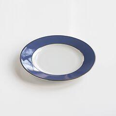 Porcelaine de Limoges Kleiner Teller Französisch Blau