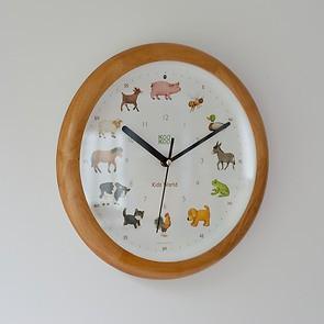 Singende Uhr 'Bauernhof' Holz