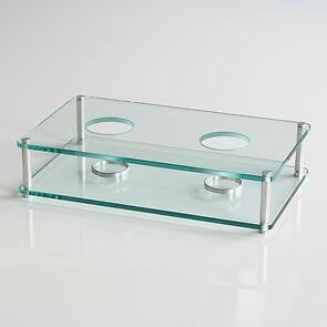 Mawa Glas-Stövchen 2-flammig