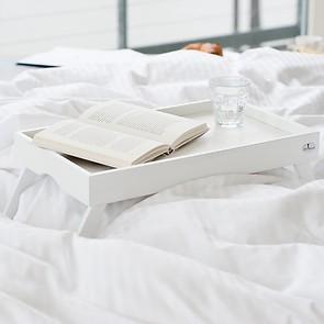 Betttablett Buche Weiß