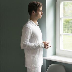 Sunday in Bed Pyjamashirt Morris Langarm Weiß L