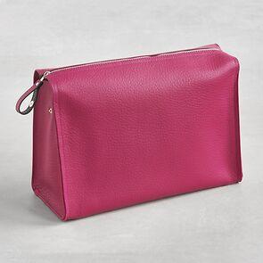 Hammann Kulturtasche Hirschleder Pink
