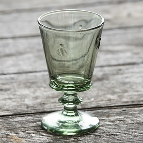 La Rochère 4 Weingläser mit Biene Olivgrün