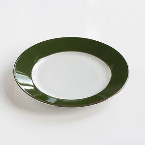 Porcelaine de Limoges Mittlerer Teller Empiregrün