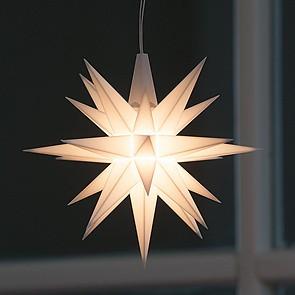Kleiner Herrnhuter Stern aus Kunststoff Weiß (LED)
