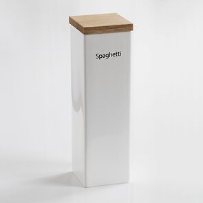 Spaghetti-Vorratsdose mit Holzdeckel