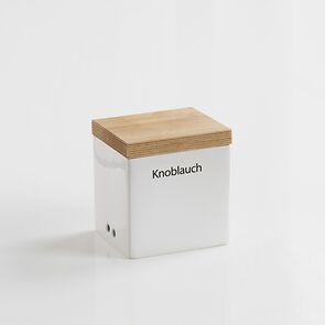 Knoblauch-Vorratsdose mit Holzdeckel