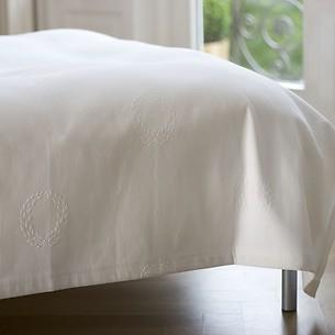 Torquato Bettüberwurf Kränze 180 x 260 cm Weiß
