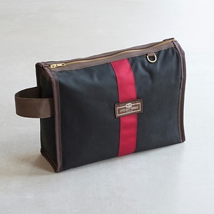 Otis Batterbee Wash Bag Grand Tour black