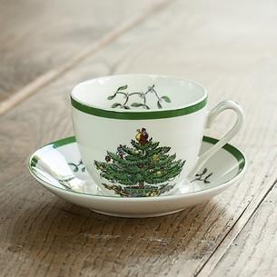 Spode Christmas Tree Teetasse mit Untertasse 220 ml