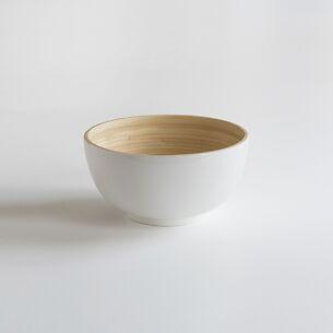 Bambus Salatschüssel S Weiß