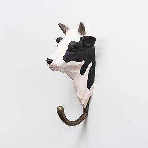 Handgeschnitzter Kleiderhaken Kuh
