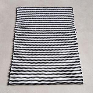 Badezimmerteppiche Nilo Schwarz/Weiß