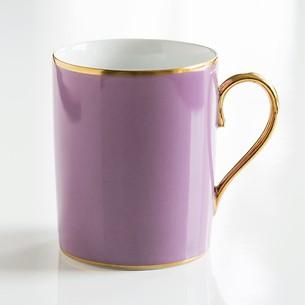 Porcelaine de Limoges Becher mit Golddekor Lila