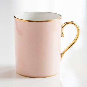 Porcelaine de Limoges Becher mit Golddekor Rosa