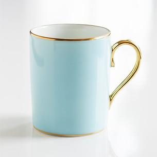 Porcelaine de Limoges Becher mit Golddekor Opal