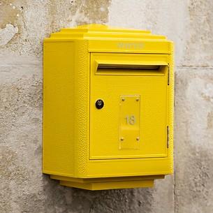 Briefkasten La Boîte Jaune Grand Modèle 1950 Gelb