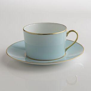 Porcelaine de Limoges Tasse mit Untertasse Opal