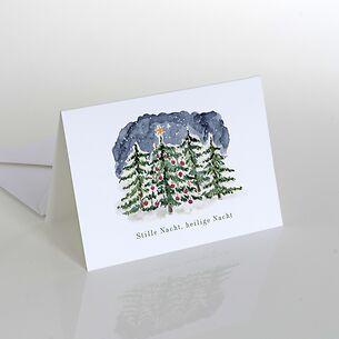 Weihnachtskarte: Stille Nacht