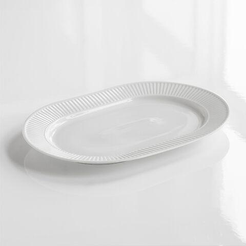 Pillivuyt Plissé Große, ovale Platte