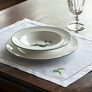 Tischset 54 x 40 cm Grüner Hirsch Leinen