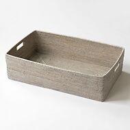 Weg mit den Kartons: Schuhkorb Rattan