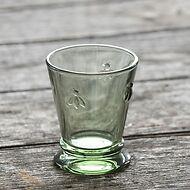 La Rochère 4 Trinkgläser mit Biene Olivgrün