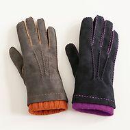 Damenhandschuhe aus Ziegenleder mit Stulpe