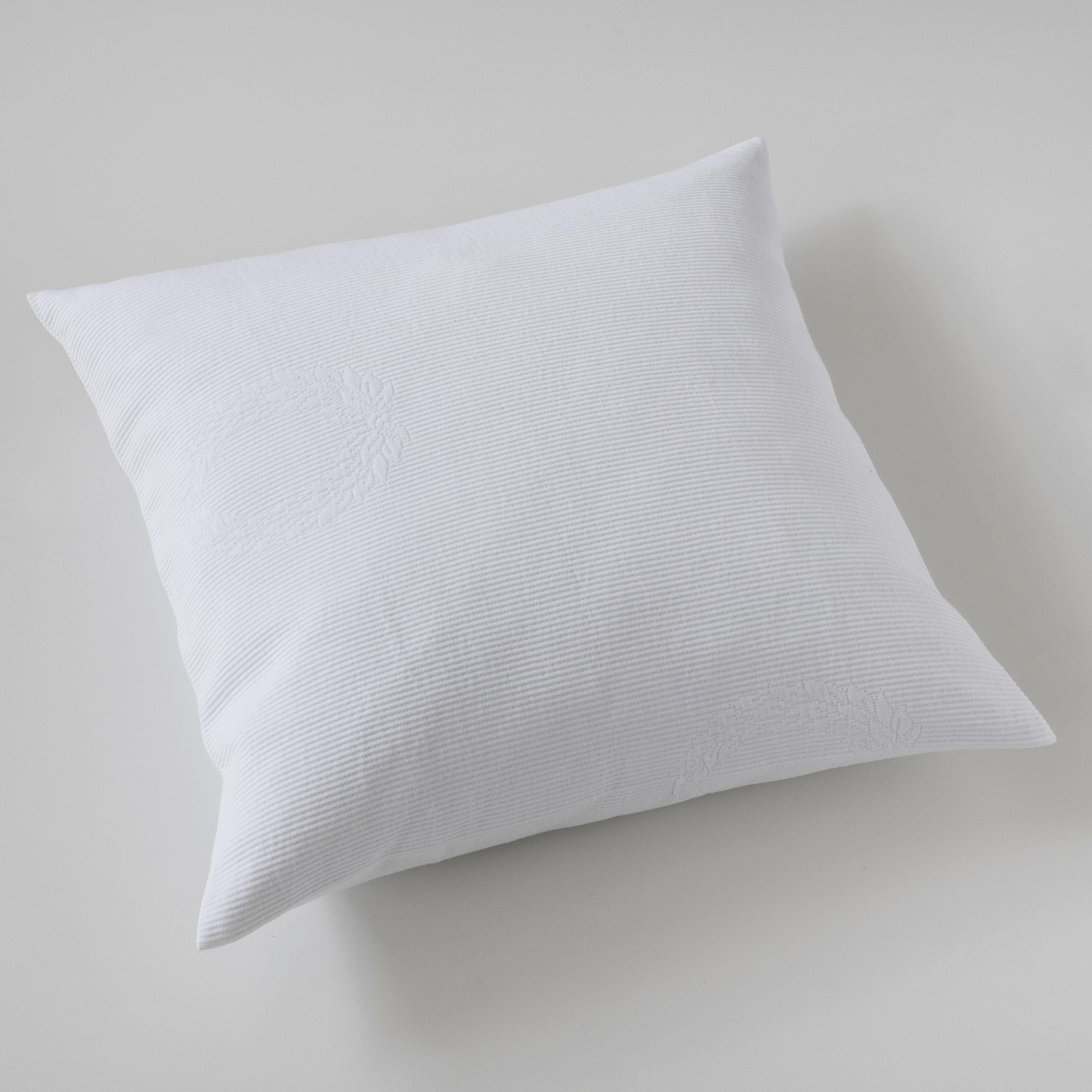 kissenbezug kr nze 50 x 50 cm wei bei. Black Bedroom Furniture Sets. Home Design Ideas