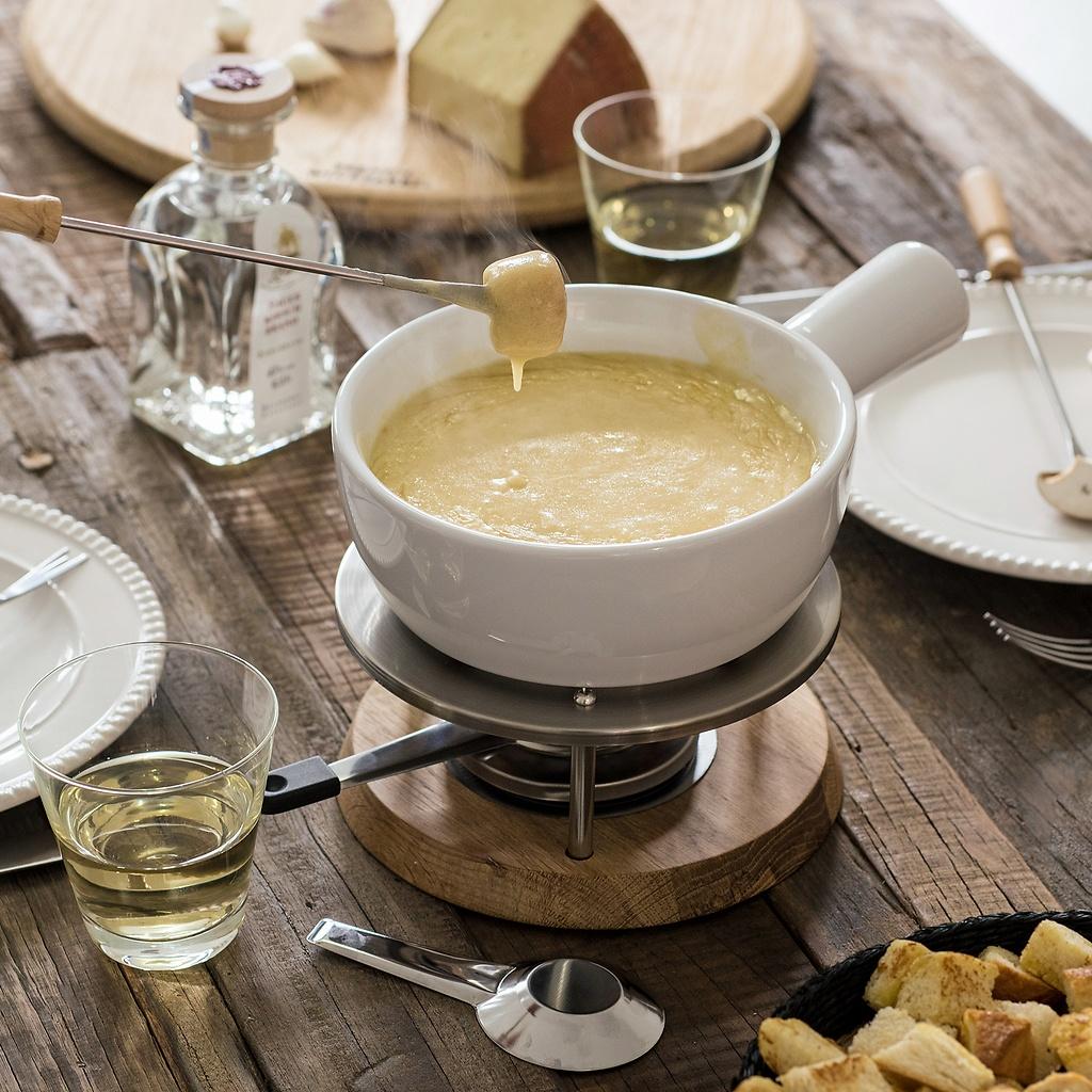 fondue set bianco bei. Black Bedroom Furniture Sets. Home Design Ideas
