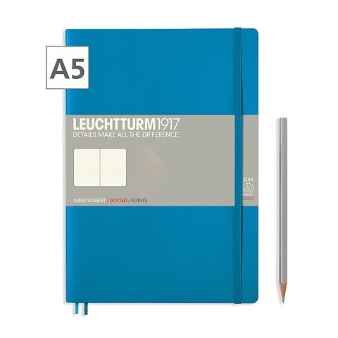 Leuchtturm1917 Notizbuch A5 dotted Azur